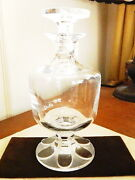 Lalique Crystal Footed Decanter - Nice