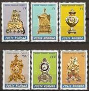 Romania 1984 Antique Clocks Mnh Watches, Porcelain Figurines Buy - Don't Watch