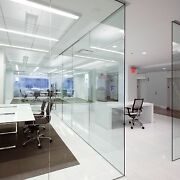 In-line Full Height Glass Partition-just Choose Width And Ceiling Height