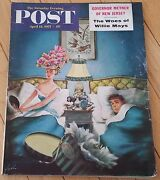 Saturday Evening Post April 13 1957 Governor Meyner Willie Mays Broadway