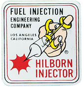 Hilborn Injector Fuel Injector Engineering Company Decal Adhesive On Back