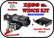2500lb Mad Dog Winch Mount Combo Yamaha 2002-2008 Grizzly 660