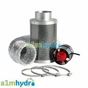 Rhino Hobby Carbon Filter Kit Odour Extraction Fan Aluminium Ducting Hydroponics