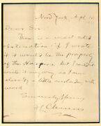 1901 Mark Twain Writes To Cuyler Reynolds Samuel Clemens Autograph Letter Signed