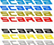 2- Scarab Small Decals Vinyl Sticker 2- 3and039and039 Tall Scarab Boat Boats Decal Usa