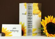 Personalised Wedding Invitations Day And Evening - Yellow Sunflower Flower