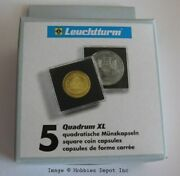 25 Lighthouse Quadrum Xl 51mm Square Coin Capsules Large Snaps Holders Squares