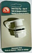 New Igloo 24010 Replacement Cooler Drain Plug Assembly - Snap Fit Style