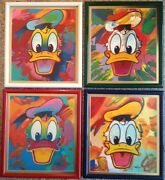 Peter Max - Disney - Donald Duck Suite - 4 Signed And Numbered Prints Framed