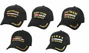Rothco Deluxe Low Profile Military Veteran Hat Adjustable Black Cap - Be Proud
