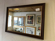 Buy Direct - Large Traditional 56mm Mahogany And Goldwall And Overmantle Mirrors