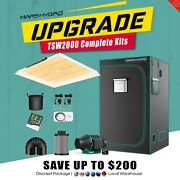 Mars Hydro Tsw 2000w Led Grow Light+carbon Filter+4and039x4and039 Grow Tent Complete Kit