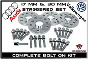 Audi And Volkswagen 17 Mm And 30 Mm Staggered 57.1 Hub Centric Wheel Spacers Set