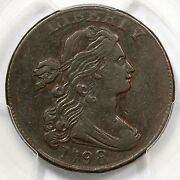 1798 S-166 Pcgs Xf 45 Draped Bust Large Cent Coin 1c