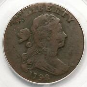 1798 S-178 R-5+ Pcgs Genuine Rev Of 95 Draped Bust Large Cent Coin 1c