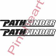 2- Pathfinder Decals Pair Sticker Decal Boat Flats Path Finder 4.1and039and039 X 33and039and039 Usa