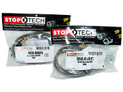 Stoptech Stainless Steel Braided Brake Lines Front And Rear Set / 40011+40511