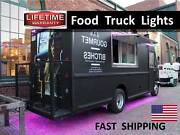 Concession Trailer Food Truck Mobile Kitchen And Catering Advertising Sign Lights