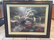 25.5x34 Limited Edition Oil Painting - Bridge Of Hope By Thomas Kinkade