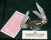 Schrade Usa 885uh Knife Ducks Unlimited Circa-1980's W/paperwork And Loss Cert.