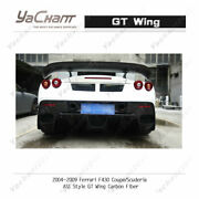 Carbon Rear Spoiler For 04-09 Ferrari F430 Coupe And Scuderia Asi-style Gt Wing