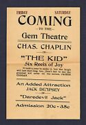 1920 Extremly Rare Mini Poster Of Jack Dempsey In Daredevil Jack Boxing Boxer