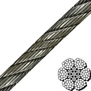 1-1/4 X 600and039 6x26 Compacted And Swaged Wire Rope