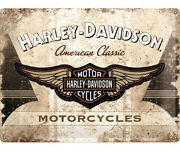 A3 Tin Metal Embossed Sign Harley Davidson American Classic Motorcycles Licensed