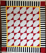 Bugs Insects Black White Red Patchwork Handmade Baby Lap Crib Quilt 41 X 47