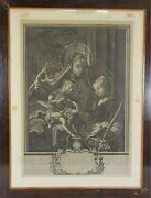 K3-031. Madonna And Child. Engraving On Paper. Christian Rugendas. 18th Century