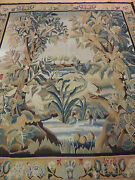 6x9 French Tapestry Oriental Area Rug Wall Hanging Birds Garden Wool Knotted