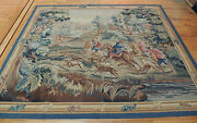 6x9 French Tapestry Oriental Area Rug Wall Hanging Hunting Horses Dogs