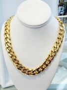 Menand039s14k Gold Plated 12mm 30 Heavy Solid Cheapest Miami Cuban Curb Link Chain