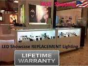 6 Foot Showcase Display Show Jewelry Case Led Diamond / Ring / Watch Light - New