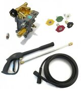 3000 Psi Power Pressure Washer Water Pump And Spray Kit - For Craftsman Units