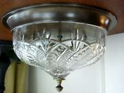 Waterford Crystal Seahorse Flush Mount Ceiling Fixture Light Lamp - New / Box
