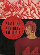 1937 Usc Southern California-stanford Program Indians Win By One Rare