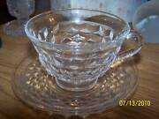 Fostoria Clear American Elegant Cup And Saucer Set