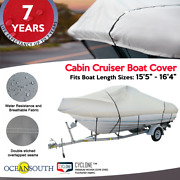 Heavy Duty100solution Dyed Polyester V-hull Cuddy Cabin Boat Cover 15and0395-16and0394