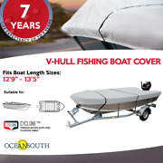 Heavy Duty 100 Solution Dyed Polyester V-hull Fishing Boat Cover 12and0399 - 13and0395