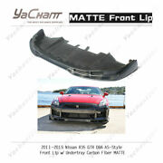 Carbon Diffuser For 11-15 Nissan R35 Gtr Dba As Front Lip W/ Undertray In Matte