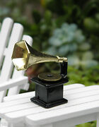 Miniature Dollhouse Fairy Garden Old Fashioned Phonograph Record Player