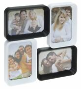 Stylish Black And White Photo Frame For 4 Pictures Modren Home Design Wall Hanging