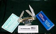 Schrade 834 Knife Uncle Henry Rancher Stockman 3-5/16 1990's Nos W/packaging