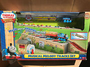 Thomas And Friends Wooden Railway Musical Melody Tracks Set W/ 1 Train 1 Cargo New