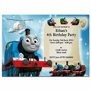 I004 Train Engine Too Too Personalised Invites 1st 2nd 3rd 4th 5th 6th 7th 8th
