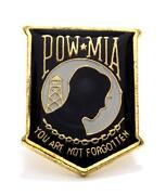 Wholesale Lot Of 12 Pow Mia Shield Lapel Hat Pin Military Marines Army Ppm008
