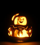 30th Anniversary Ghostbusters Stay Puft Hand-carved Foam Pumpkin 12