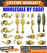 Wholesale Lot - Door Lock Sets Handle Knob Entry Passage Privacy Polished Brass