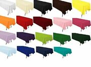 10 Packs 60 X 102 Inch Rectangle Polyester Tablecloth Hotel Boot 25 Colors Sale